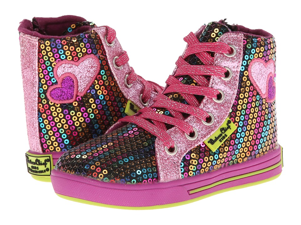 Western Chief Kids - Rainbow Glitz Hi-Top (Toddler/Little Kid) (Multi) Girl's Shoes