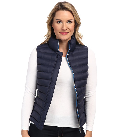 Lacoste - Sleeveless Padded Vest (Navy Blue/Arctic Blue/Str) Women