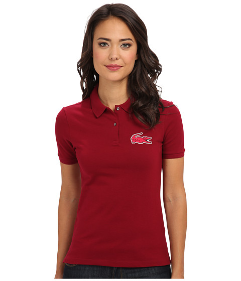 Lacoste - L!VE S/S Pique Winking Croc Polo (Julienas/Strawberry Pink) Women