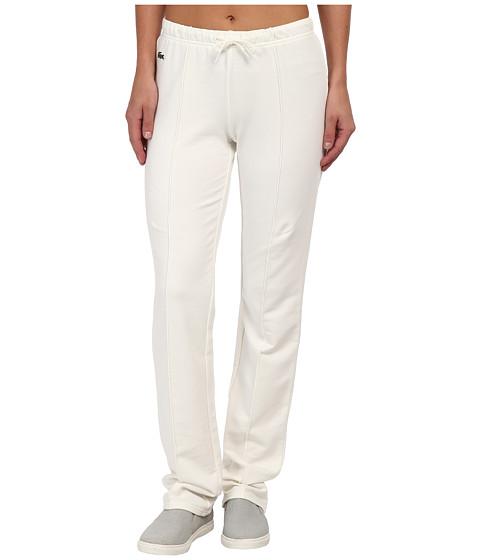 Lacoste - Drawstring Waist Sweatpant (Flour/Flour) Women's Casual Pants