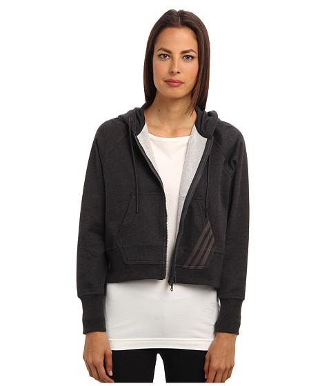 adidas Y-3 by Yohji Yamamoto - Ft Hane Hoodie (Charcoal Melange) Women's Sweatshirt