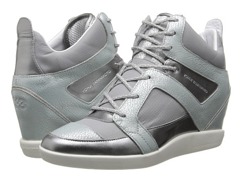 adidas Y-3 by Yohji Yamamoto - Sukita II (Silver Metallic/Solid Grey/Chalk White) Women's Wedge Shoes