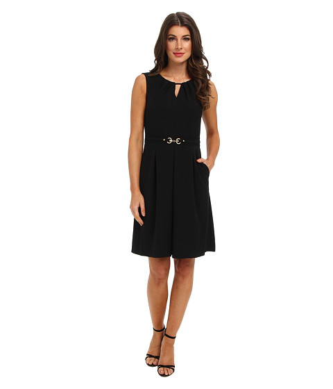 Ellen Tracy - Sleeveless Career Fit and Flare (Black) Women