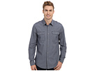 DKNY Jeans L/S Roll Tab Micro Check Shirt - Casual Press (Fjord Blue)