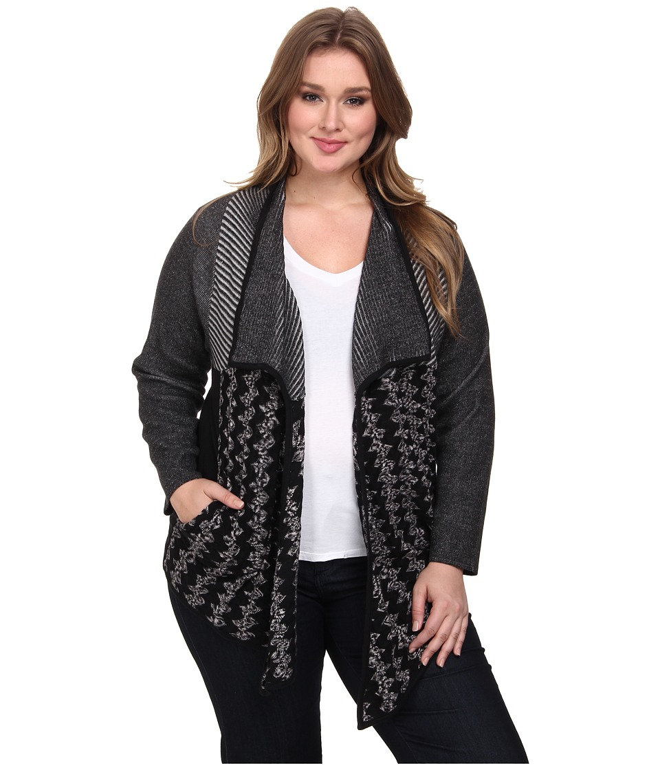NIC+ZOE - Plus Size Every Eve Cardy (Multi) Women's Sweater