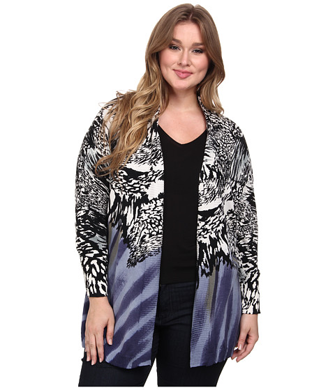 NIC+ZOE - Plus Size Mineral Washed Cardy (Multi) Women