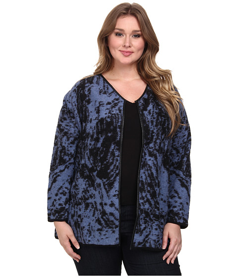NIC+ZOE - Plus Size Eclipse Jacket (Black Multi) Women's Coat