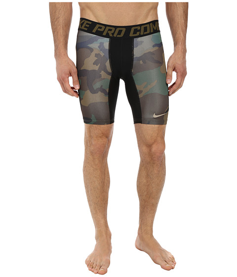 Nike - Pro Combat 6 Hypercool Compression Woodland Short (Iguana/Black/Iguana/Bamboo) Men's Shorts