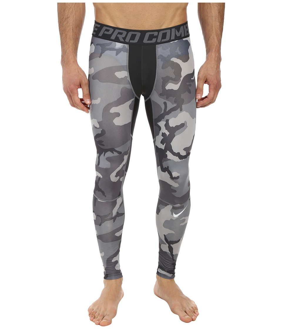Nike - Pro Combat Hypercool Compression Woodland Tight (Anthracite/Anthracite/Cool Grey/Pure Platinum) Men's Workout