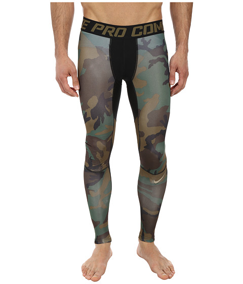 Nike - Pro Combat Hypercool Compression Woodland Tight (Iguana/Black/Iguana/Grain) Men's Workout