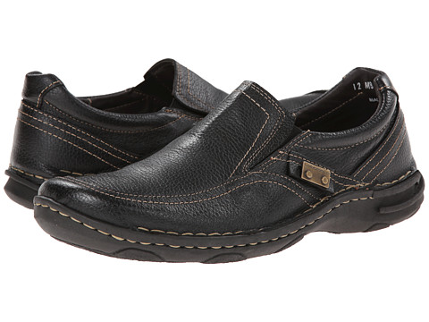 Lobo Solo - David (Black Leather) Men's Slip on Shoes