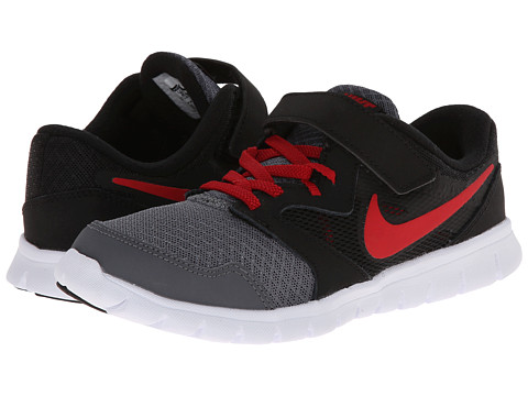 Nike Kids - Flex Experience 3 (Little Kid) (Dark Grey/Black/White/Gym Red) Boys Shoes