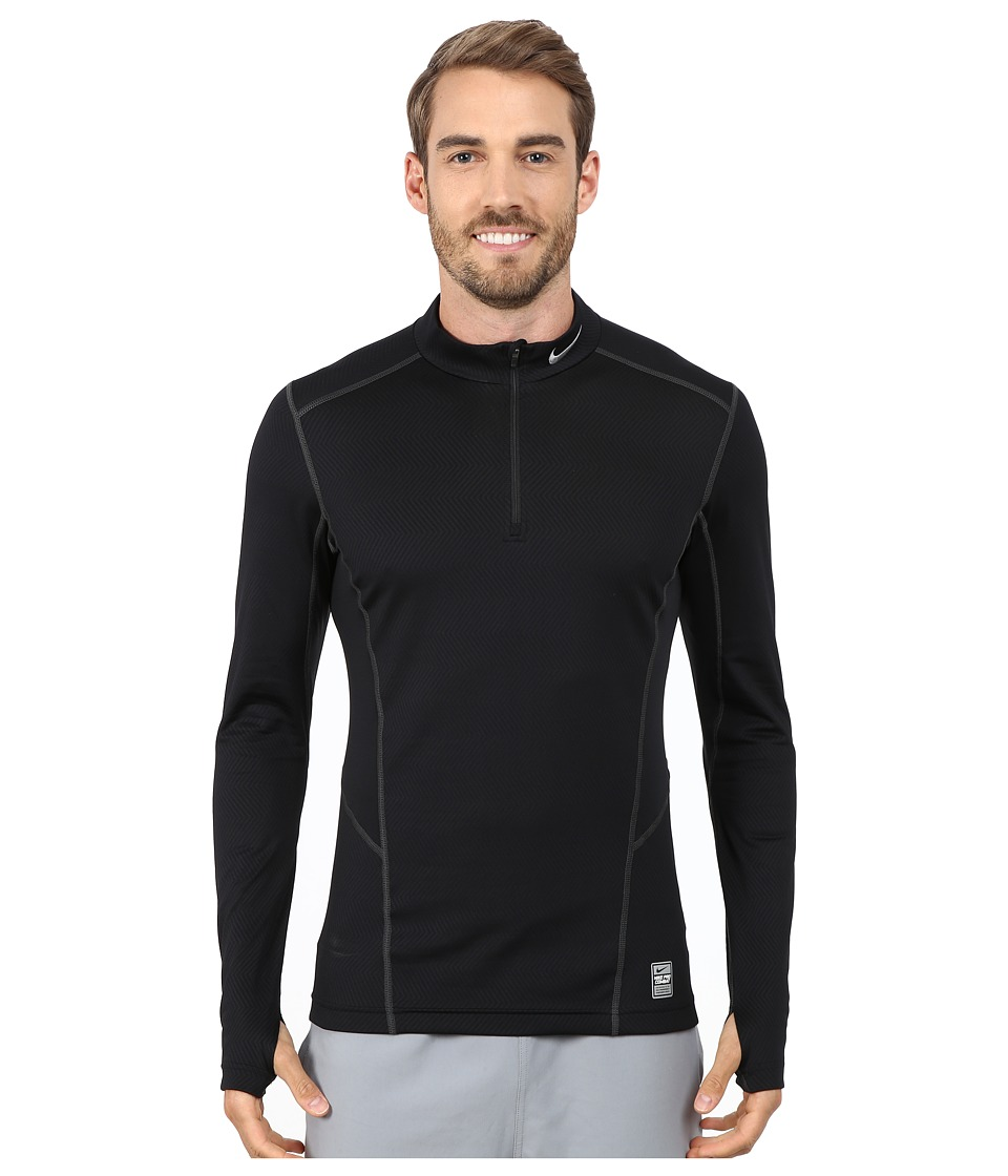 Nike - Hyperwarm Lite Fitted 1/4 Zip (Black/Cool Grey/Cool Grey) Men's Long Sleeve Pullover