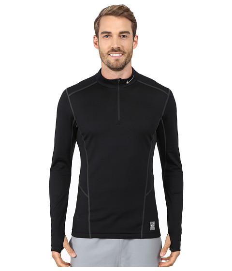 Nike - Hyperwarm Lite Fitted 1/4 Zip (Black/Cool Grey/Cool Grey) Men's Long Sleeve Pullover