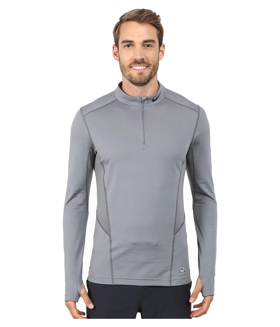 Nike - Hyperwarm Lite Fitted 1/4 Zip (Cool Grey/Black/Black) Men