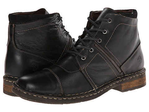 Lobo Solo - Fred (Black Leather) Men's Lace-up Boots