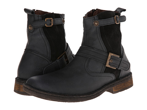 Lobo Solo - Elijah (Black Leather) Men's Zip Boots