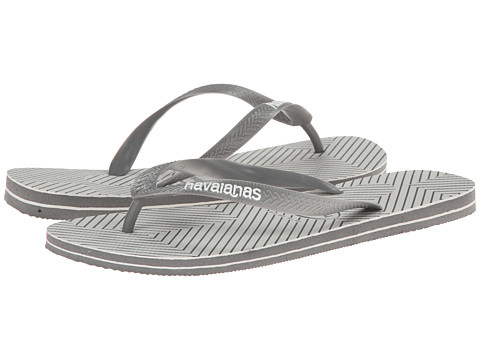 Havaianas - Top Optical Zig Zag Sandal (Grey/White) Men's Sandals