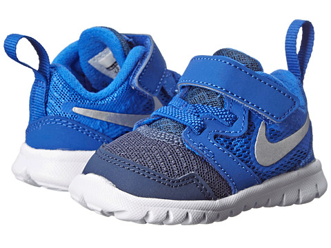 Nike Kids - Flex Experience 3 (Infant/Toddler) (Lyon Blue/Midnight Navy/White/Metallic Silver) Boys Shoes