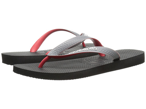 Havaianas - Top Mix Sandal (Black/Grey/Red) Men