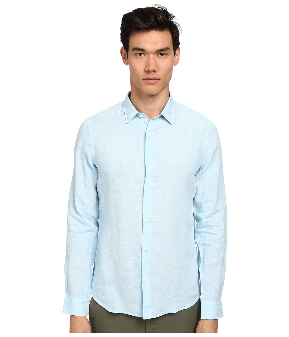 Vince - Melrose L/S Button-Up Shirt (Skyscraper) Men's Long Sleeve Button Up