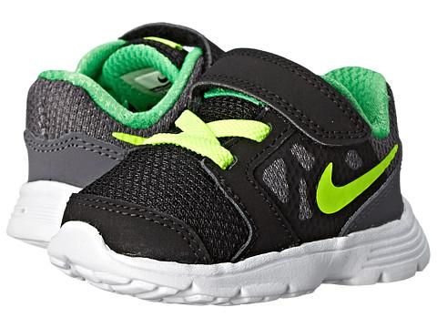 Nike Kids - Downshifter 6 (Infant/Toddler) (Dark Grey/Black/White/Volt) Boys Shoes