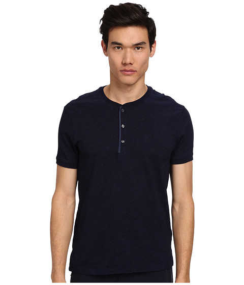 Vince - S/S Henley (Light Enzyme Wash) Men's T Shirt