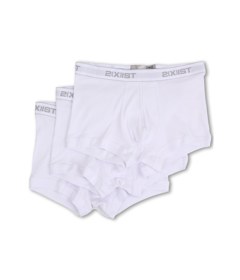 2(X)IST - 3-Pack ESSENTIAL No-Show Trunk (White) Men's Underwear