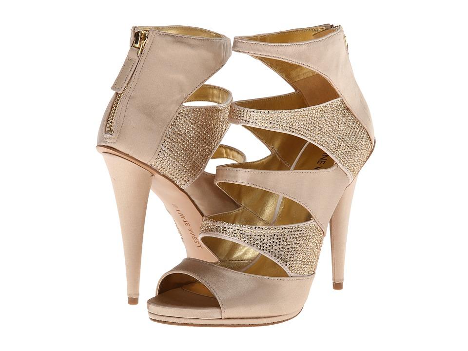 Nine West - Amability (Light Gold Satin) High Heels