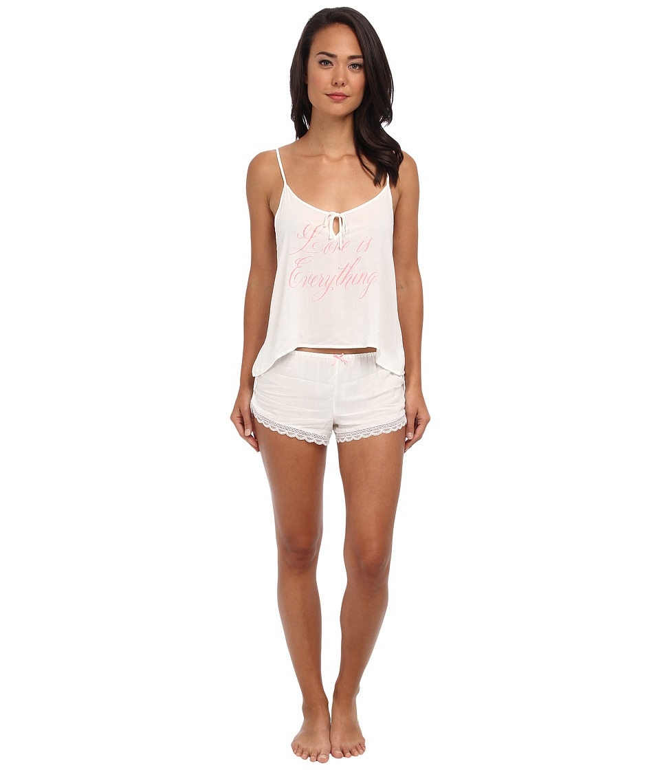 Wildfox - Love Is Everything/Cheeky Hearts Summer Sleep Set (Ivory) Women's Pajama Sets