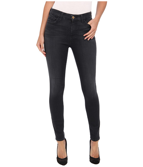 7 For All Mankind - The High Waist Ankle Skinny w/ Contour Waistband in Bastille Grey (Bastille Grey) Women