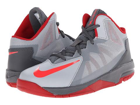 Nike Kids - Stutter Step 2 (Little Kid) (Wolf Grey/Dark Grey/Gym Red/Bright Crimson) Boys Shoes