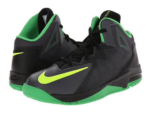 Nike Kids - Stutter Step 2 (Little Kid) (Dark Grey/Black/Light Green Spark/Volt) Boys Shoes