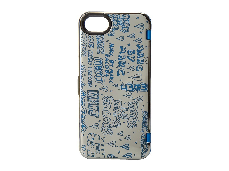 Marc by Marc Jacobs - Scribble Mirror Phone Case for Phone 5 (Silver Multi) Cell Phone Case
