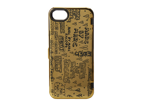 Marc by Marc Jacobs - Scribble Mirror Phone Case for Phone 5 (Gold Multi) Cell Phone Case
