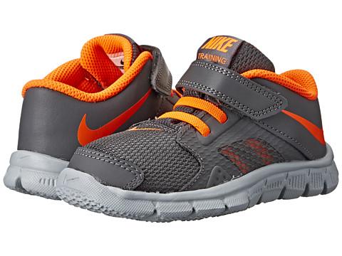 Nike Kids - Flex Supreme TR 3 (Infant/Toddler) (Dark Grey/Wolf Grey/White/Total Orange) Boys Shoes