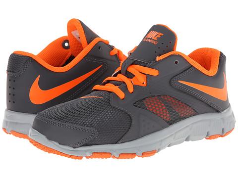 Nike Kids - Flex Supreme TR 3 (Little Kid/Big Kid) (Dark Grey/Wolf Grey/White/Total Orange) Boys Shoes