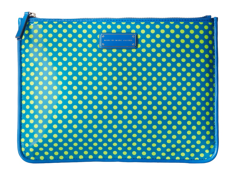 Marc by Marc Jacobs - Techno Mesh Tablet Zip Case (Electric Blue Multi) Computer Bags