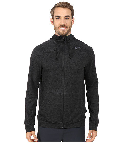 Nike - Dri-FIT Touch Fleece Full-Zip Hoodie (Black/Cool Grey) Men