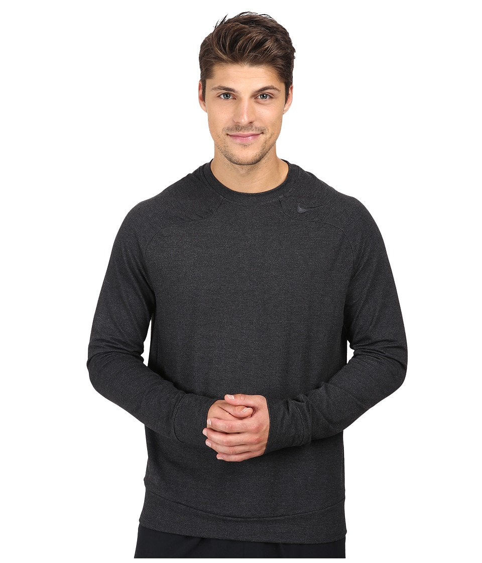 Nike - Dri-FIT Touch Fleece Crew (Black/Cool Grey) Men's Long Sleeve Pullover