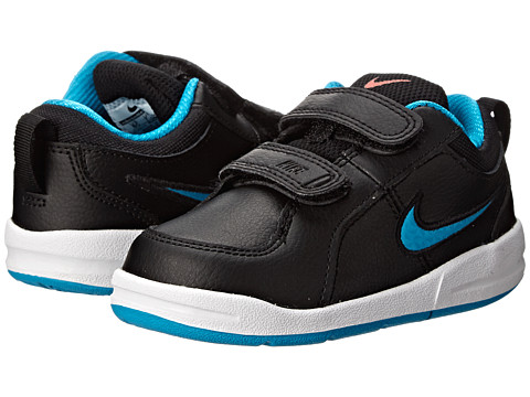 Nike Kids - Pico 4 (Infant/Toddler) (Black/Bright Crimson/White/Blue Lagoon) Kids Shoes