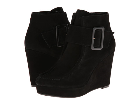 Nine West - Backtrack (Black Suede) Women's Wedge Shoes