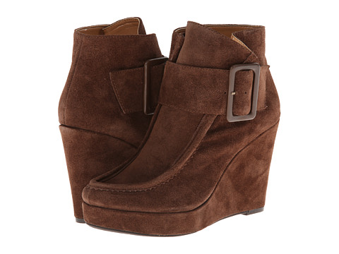 Nine West - Backtrack (Dark Brown Suede) Women's Wedge Shoes