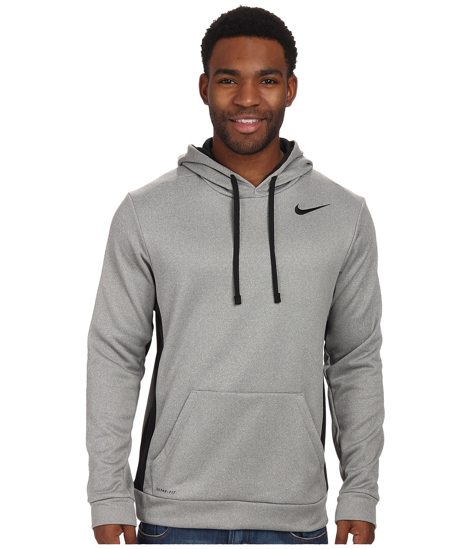Nike - KO Hoodie 3.0 (Dark Grey Heather/Black/Black/Black) Men's Sweatshirt