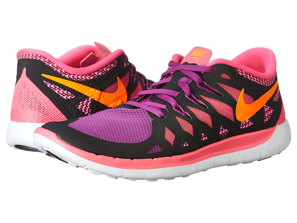Nike Kids - Free 5.0 (Big Kid) (Black/Pink Pow/Bold Berry/Total Orange) Girls Shoes