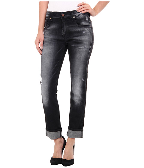 7 For All Mankind - Relaxed Skinny in Slim Illusion Ultimate Icy Black (Slim Illusion Ultimate Icy Black) Women's Clothing
