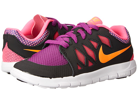 Nike Kids - Free 5 (Little Kid) (Black/Pink Pow/Bold Berry/Total Orange) Girls Shoes