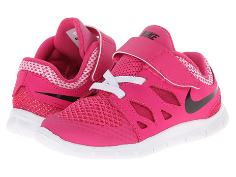 Nike Kids - Free 5 (Infant/Toddler) (Hot Pink/White/Black) Girls Shoes