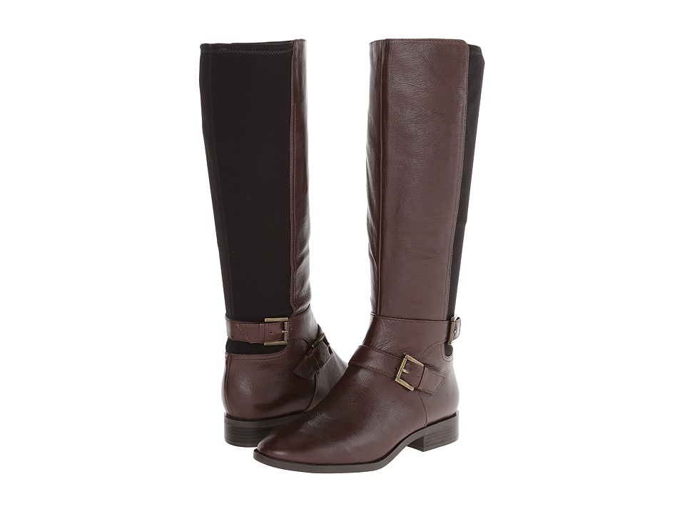 Nine West - Bridge (Dark Brown/Black Leather) Women's Boots