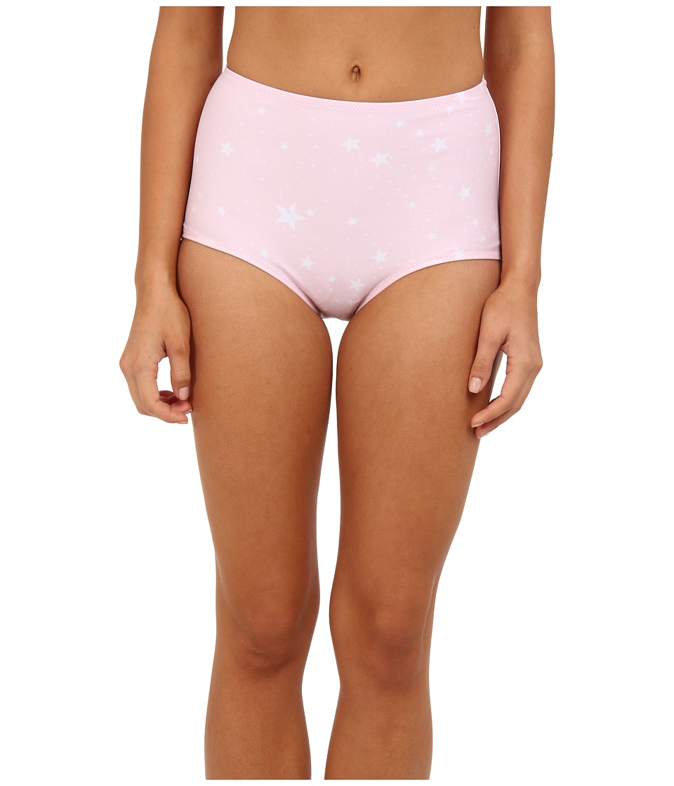 Wildfox - Starry Days Vintage High Waist Bottom (Starry Pink) Women's Swimwear